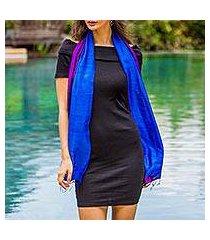 silk scarf, 'spring shimmer' (thailand)