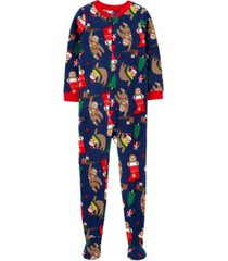 carter's big boy1-piece christmas fleece footie pjs