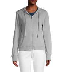 zadig & voltaire women's skull-print jacket - melange grey - size m