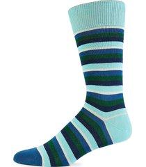 paul smith men's striped crew socks - blue