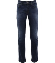 eagle & brown 5-pocket jeans in stretch blauw