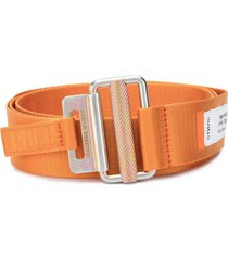 heron preston orange fabric belt