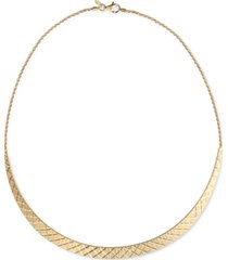 """giani bernini textured cleopatra 18"""" statement necklace in 18k gold-plated sterling silver, created for macy's"""
