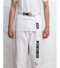 pasek buckle belt white lie