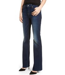 women's 7 for all mankind b(air) tailorless iconic bootcut jeans, size 24 - blue
