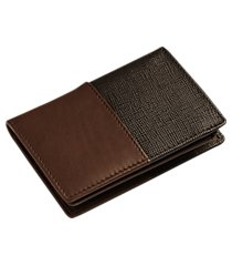 jos. a. bank leather two tone l-fold wallet