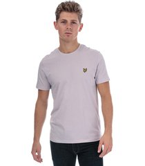 lyle and scott mens crew neck t-shirt size l in purple
