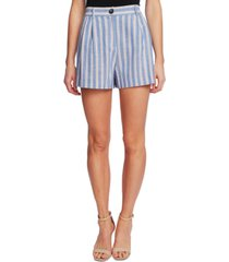 cece striped pleated shorts
