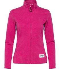 jacket flavia flavia sweat-shirt tröja rosa björn borg