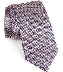 men's brioni geometric silk tie