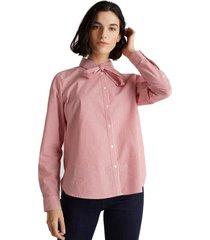 blusa lazo cuello rosado esprit