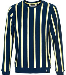 trui axel sweat stripe donkerblauw