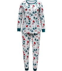 matching women's mittens family pajama set, created for macy's