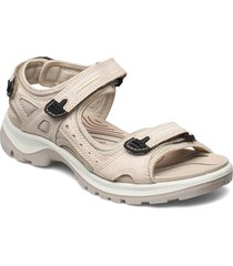 offroad shoes summer shoes flat sandals creme ecco