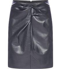 nanushka milo vegan leather miniskirt