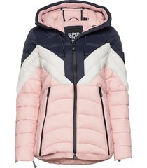 colour block eclipse padded jacket gevoerd jack roze superdry