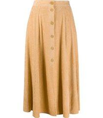 forte forte high-waisted ribbed skirt - neutrals
