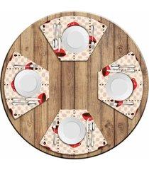 jogo americano love decor  para mesa redonda wevans xãcara de cafã© kit com 4 pã§s - multicolorido - dafiti
