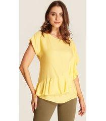 blusa amarilla con boleros amarillo xs