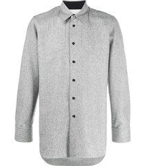 jil sander curved-hem long-sleeve shirt - grey