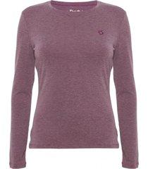 camiseta primera capa mujer thermoactive morado doite