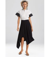 natori solid crepe skirt, women's, black, size 6 natori