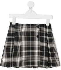bonpoint plaid pleated mini skirt - black
