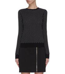 'mini pd' polka dot crewneck knit top