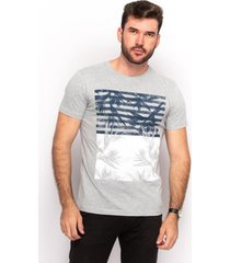 camiseta t shirt algodão teodoro masculino flores slim