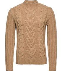 pullover long sleeve stickad tröja m. rund krage beige marc o'polo