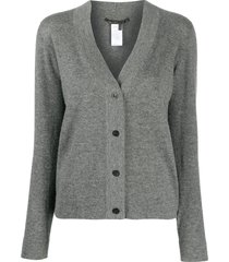 agnona cashmere fitted cardigan - grey