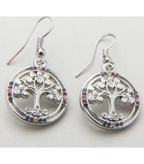 irish crystal tree of life earrings