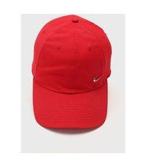 boné nike sportswear h86 cap nk metal swoosh vermelho