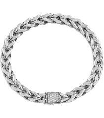 'asli classic chain' diamond silver bracelet