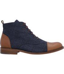 botin casual hombre , textil por cuero azul, marca mestiere, ref 4017