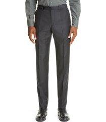 men's ermenegildo zegna multi season wool dress pants, size 32 us/ 48 eu - grey
