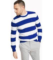 tommy hilfiger men's essential rugby sweater cobalt - xs