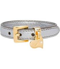 miu miu madras adjustable belt - metallic