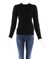 alexander mcqueen cashmere wool sweater black sz: s