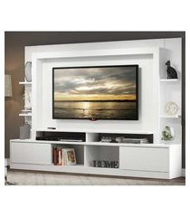 "home theater moscou p/tv ate 65"" c/suporte universal branco acet. tx"