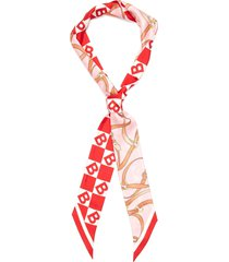 'tb diamond' ribbon silk scarf
