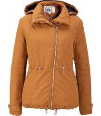 giacca con cerniera obliqua (marrone) - bpc bonprix collection
