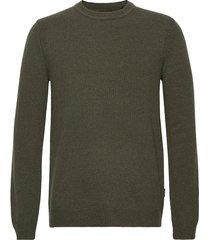 onshoward 7 soft crew neck knit stickad tröja m. rund krage grön only & sons