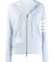 light blue 4-bar hoodie jacket