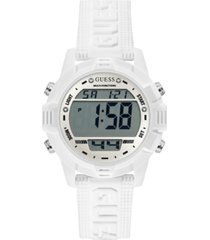 guess white silicone digital watch 40mm
