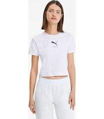 nu-tility nauwsluitend t-shirt voor dames, wit, maat l | puma