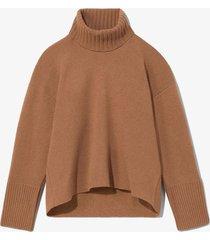 doubleface eco cashmere oversized turtleneck sweater