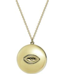 "argento vivo evil eye disc 18"" pendant necklace in gold-plate over sterling silver"