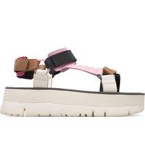 camper oruga, sandali donna, beige/nero/rosa, misura 42 (eu), k201037-014