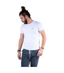 camiseta mister fish básica com elastano masculina